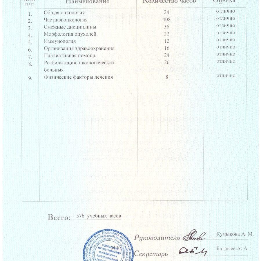 Врач-онколог в Тимашевске - Банникова Ирина Николаевна
